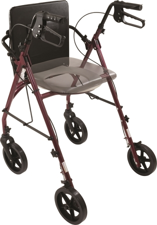Free2go Mobility Rollator Travel Walking Aid And Raised