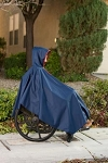 Navy Wheelchair Winter Poncho