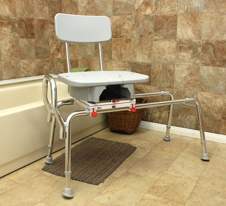 Eagle Snap N Save Sliding Transfer Bench With Cut Out