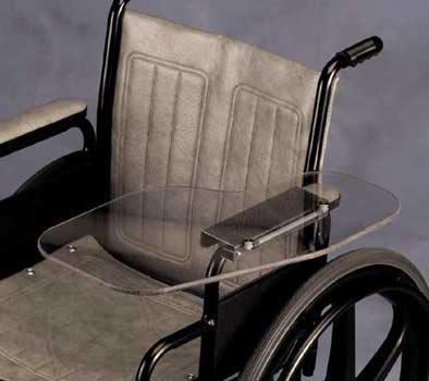 Clear Flip Away Wheelchair Half Lap Tray Wheelchair Tray