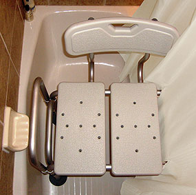 Bench Buddy Hookless Shower Curtain Simplicity For Tub Transfer Benches