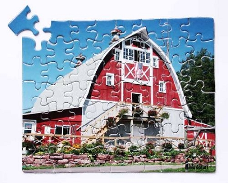 Mind-Start 63-Piece Barn Puzzle