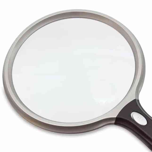 ultra optix led 5 inch round 2x magnifier lighted magnifying glass with ergonomic handle