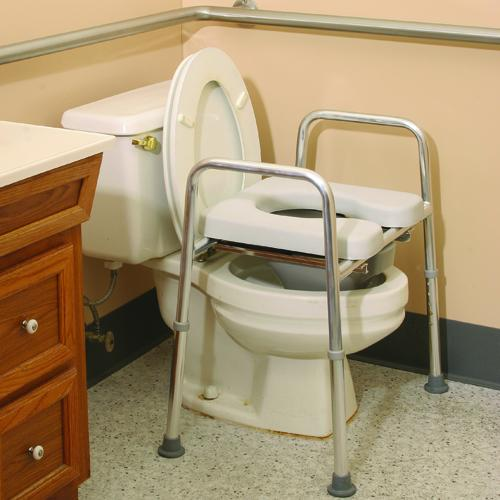 Raised Toilet Frame With Padded Seat Four In One