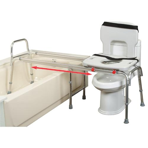 Eagle Health XX Long Toilet to Tub Sliding Transfer Bench. Bath and Shower Chairs for in home care of the elderly  stroke