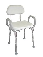 Padded Shower Chair with Armrests and Back