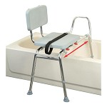 Sliding Transfer Bench with Padded Seat and Back