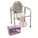 Cleanis Carebag Commode Liners Case of 360