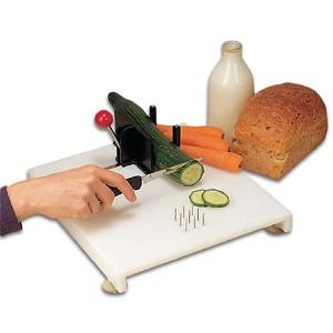 Swedish cutting board one hand food preparation board - Cutting board with prep bowls ...
