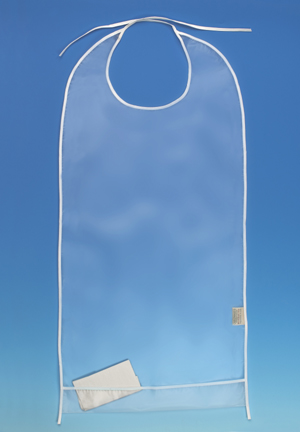 Clear Adult Eating Bib with Cuff
