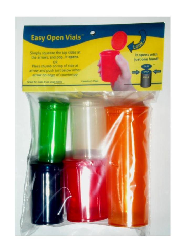 Easy Open Vials 5 Pack