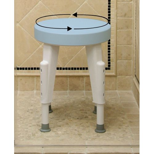 Rotating Round Shower Seat For Narrow Tubs Showers