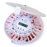 MED-E-LERT Electronic Pill Reminder & Dispenser With Solid Cover - Discontinued