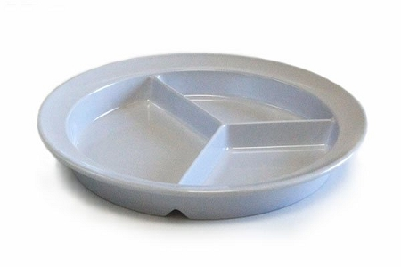divided scoop dinner plate 3 sections with deep sides for scooping food. Black Bedroom Furniture Sets. Home Design Ideas