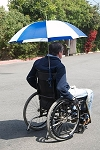 Adapted Umbrella for Wheelchairs - Discontinued