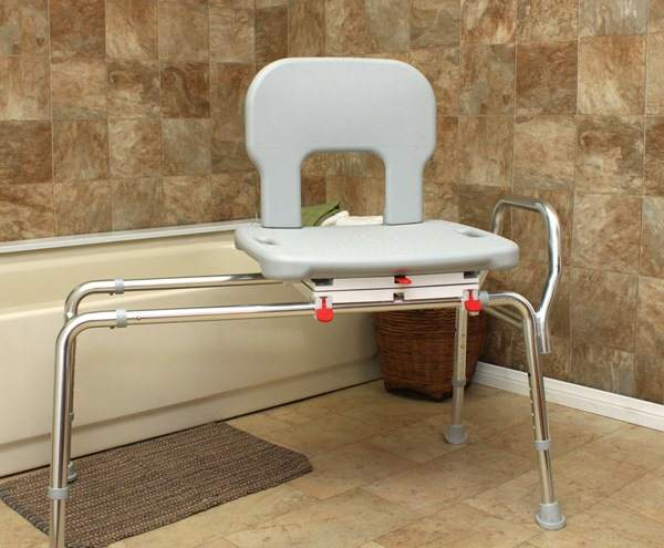 Bariatric Sliding Swivel Bath Transfer Seat: Get In & Out Of The Tub
