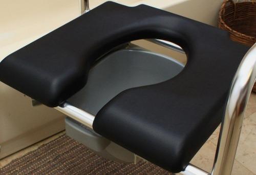 Padded Seat Raised Toilet Frame