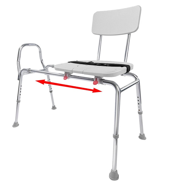 Sliding Transfer Bench with Molded Cut-Out Seat 77311