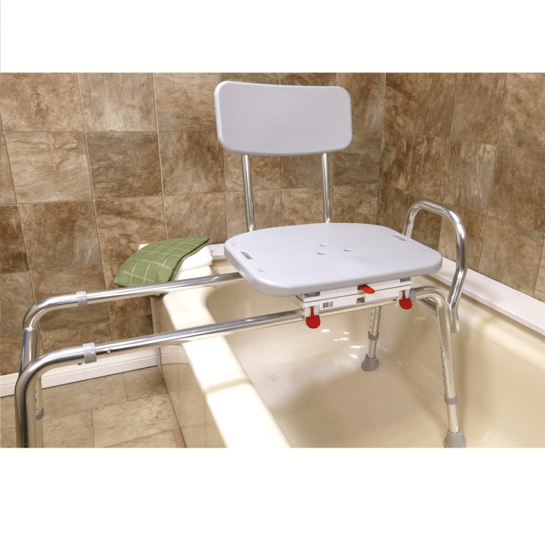 Sliding Transfer Bench With Molded Swivel Seat 77662 Tub Transfer Bench