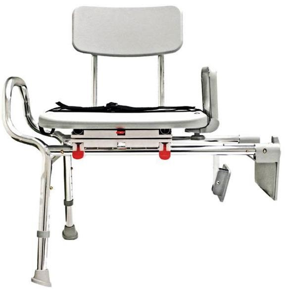 Snap N Save Sliding Tub Mount Transfer Bench With Swivel Seat 77762