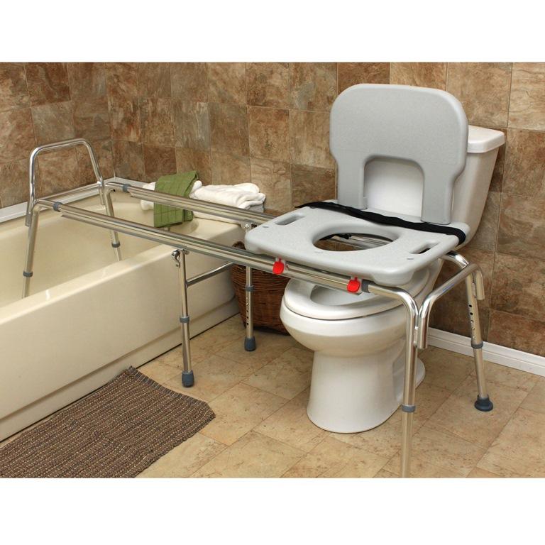 Eagle Health X Long Toilet to Tub Sliding Transfer Bench : tub ...