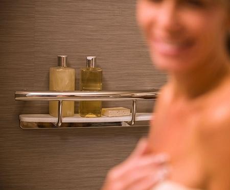 748da0af98e Invisia Grab Bar with Shampoo Shelf   ADA grab bar for bathroom safety