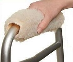 Soft Walker Handgrip Covers in Sherpa
