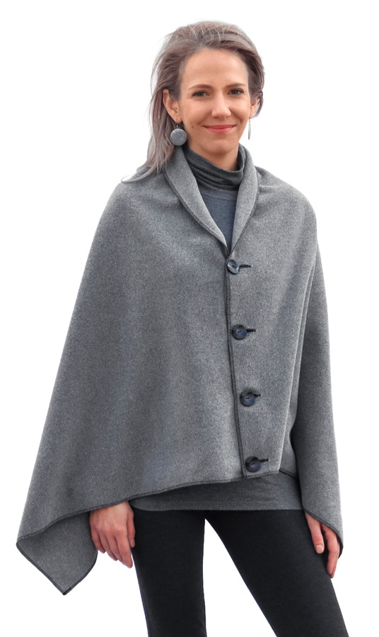 2f071fd832 Janska Wellness Wear Erin Poncho   Gray Heather simple cover up ...