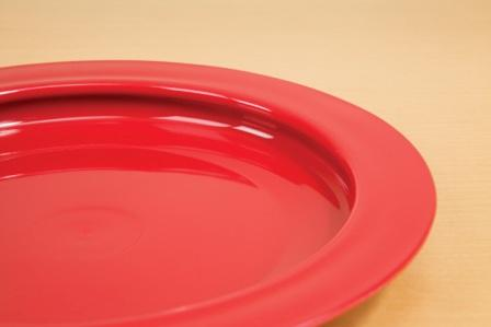 Red Inner Lip Plate Bright Red Color Provides High