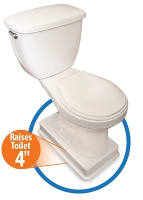 Easy Toilet Riser Commode Lift Raises Toilet Seat 4 Inches