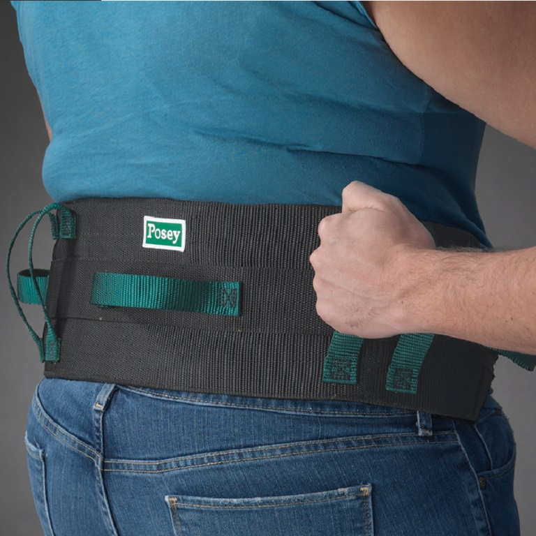 Posey Six Handled Gait Belt Quick Release Buckle