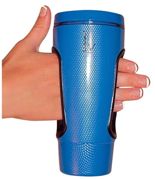 Easy Grip-In Mug :: no-grip needed cup with center opening handle