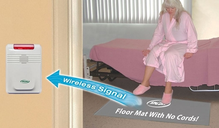 Smart Caregiver Cordless Alarm and Floor Pad : wireless chair monitor