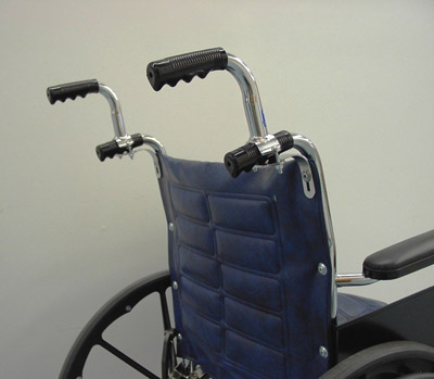 Wheelchair Push Handle Extenders Make Pushing A