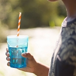 SafeSip Clear Straw Holder Drink Covers 4-Pack