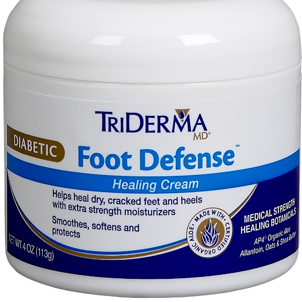 Triderma Md Diabetic Foot Defense Healing Cream 4oz Jar All
