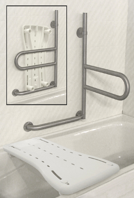 Dependa Bar Grab Bar Swing Out Bathroom Grab Bar
