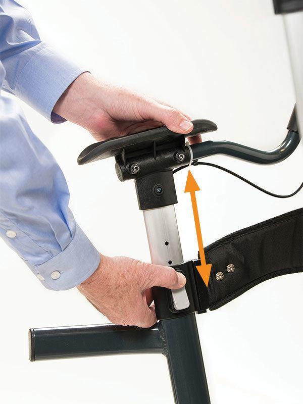 UpWalker Lite Upright Rolling Walker : lightweight stand ...