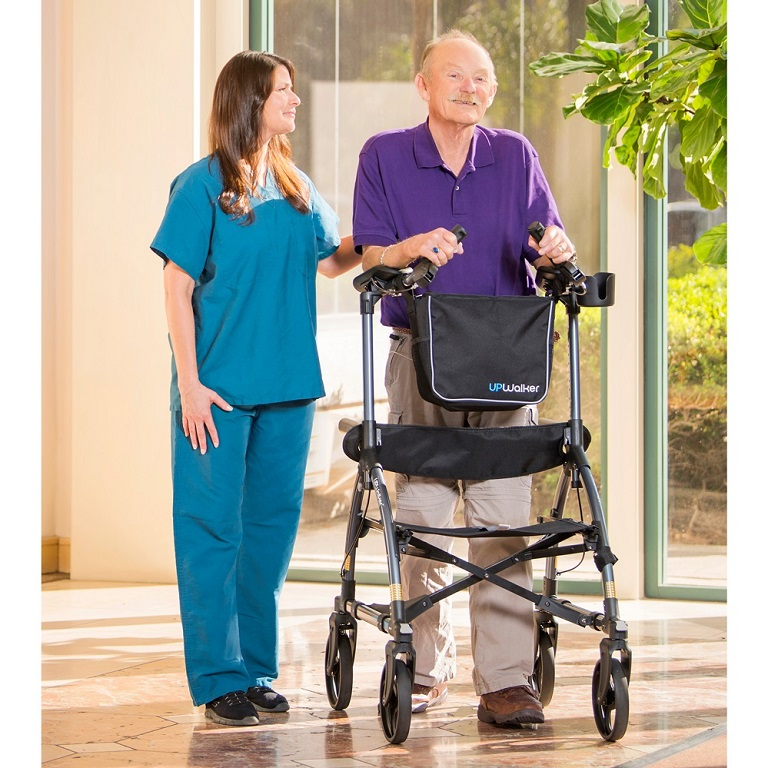 Upwalker Upright Rolling Walker Stand Up Walking Aid For