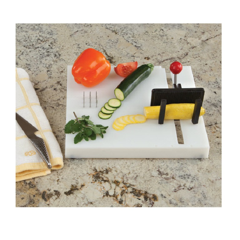 Beautiful Swedish Cutting Board Has A Vice Grip For Holding Vegetables, Fruits,  Bowls, Jars.