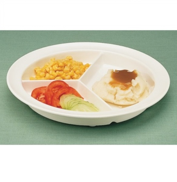 Gripware Partitioned Scoop Dish Divided Plate With Non