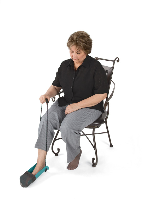 Norco Molded Sock Aid With Cord Handle One Hand Sock Assist