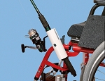 Wheelchair Fishing Rod Holder