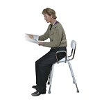 All Purpose Work Stool with Padded Seat and Back