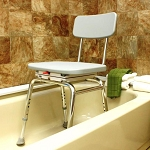 Shower Chair with Molded Swivel Seat - Discontinued