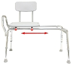 Eagle Health Extra Long Sliding Transfer Bench