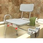 Sliding Tub Mount Transfer Bench with Swivel Seat