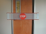 Posey Stop Sign Door Banner