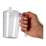 Independence Long Handle Clear Mug with Lids