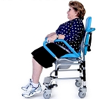 ErgoActive Rolling Commode Chair with Assistive Seat